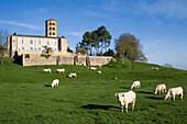 France, Burgundy, Saône et Loire, Brionnais, Anzy le Duc, romanesque chapel