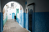 Africa, Maghreb, North africa,Morocco, Asilah (region of Tangier-Tetouan), alleyway in medina