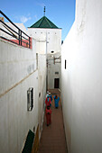 Africa, Maghreb, North africa,Morocco, Salé (Rabat), alleyway in the medina