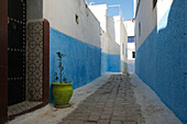 Africa, Maghreb, North africa,Morocco, Rabat, alleyway in the Kasbah of the Udayas