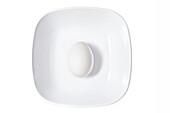 White Egg in White Bowl