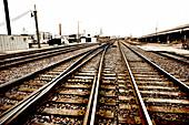 Railroad Tracks, Chicago, Illinois, USA