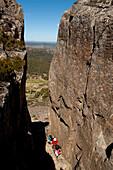 Climb to Solomons Throne, Walls of Jerusalem National Park, UNESCO World Nature Site, Tasmania, Australia