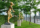 Sculptures, Regional Representation for Lower Saxony, in the Minister Gardens, Berlin, Germany
