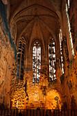 Side aisle of the cathedral La Seu, Palma de Mallorca, Mallorca, Balearic Islands, Spain, Europe