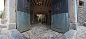 Entrance of Finca Balitx d´Avall, Tramuntana mountains, Mallorca, Balearic Islands, Spain, Europe