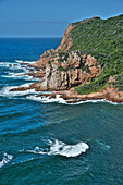 Cliffs by the sea, the Heads, Knysna Lagoon, Garden Route, South Africa