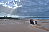 People on a privat beach, Oyster bay lodge, Garden Route, South Africa