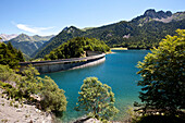 Lac de Bious-Artigues reservoir, Ossau Valley, French Pyrenees, Pyrenees-Atlantiques, Aquitaine, France