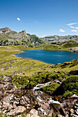 Lake Lac Roumassot, Ossau Valley, French Pyrenees, Pyrenees-Atlantiques, Aquitaine, France