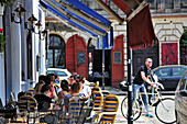 Street cafe at Jewish quarter Kazimierz, Krakow, Poland, Europe