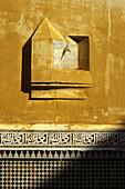 Sundial on wall, Meknes, Morocco