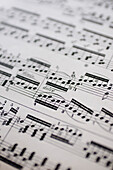 Musical score, close-up