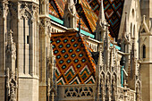 Detail of the Matthias Church, Budapest, Hungary, Europe