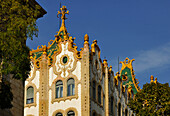 Art nouveau styled building of the Post Office Bank, Budapest, Hungary, Europe
