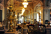 Interior view of the cafe at Grand Hotel New York, Budapest, Hungary, Europe