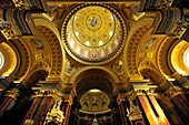 Interior view of the St. Stephen's Basilica, Budapest, Hungary, Europe