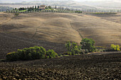 View of hilly landscape of the Crete, Tuscany, Italy, Europe