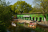Boathouse, Alster river, Hanseatic City of Hamburg, Germany