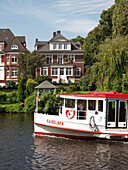 Alster steamer on the Alster river, Hanseatic City ofHamburg, Germany