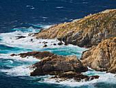 Rocky coast at Port Agro, Calvi, Corsica, France
