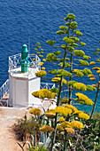 Lighthouse outpost on the foot of the Citadelle, Calvi, Corsica, France