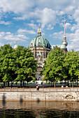 Spree, Kupfergraben, Lustgarten, Cathedral, Television Tower, Berlin Mitte, Berlin, Germany