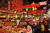 Food stalls selling fruits, Chinatown, Bangkok, Thailand, Asia