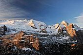 First light at Marmolada, Marmolada, Dolomites, UNESCO World Heritage Site, South Tyrol, Italy