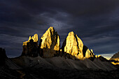 Three Peaks, Sexten Dolomites, UNESCO World Nature Site, Dolomites, South Tyrol, Trentino-Alto Adige, Italy