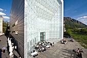 Museion Cafe, Museum of Modern Art, Museo d Arte Moderna, Bolzano, South Tyrol, Trentino-Alto Adige, Italy