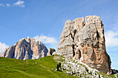 Mountain scenery in the sunligth, Dolomiti ampezzane, Alto Adige, South Tyrol, Italy, Europe