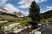Fanes alp, Gader Valley, Nature Reserve Park Fanes Sennes Prags, Alto Adige, South Tyrol, Italy
