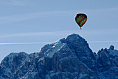 Hot air balloon flight over the Puster Valley, Alto Adige, South Tyrol, Italy