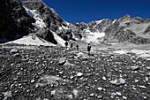 Hikers, Ortler, Stilfser Joch National Park, Alto Adige, South Tyrol, Italy
