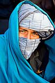 Portrait of man wearing turban, Afghanistan