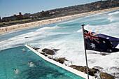 Scene at Bondi Icebergs, Bondi Beach, Sydney, Australia