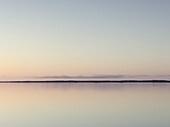 Tranquil Lake Vanern at dusk, Mariestad, Sweden