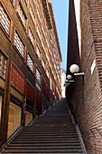 Narrow stairway, Stockholm, Sweden.