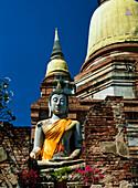 Buddha statue at Wat Yai Chai Monghon, Ayuthaya, Thailand