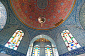 Detail of domed ceiling of the Tokapi Palace, Istanbul, Turkey.