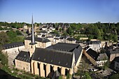 Luxembourg, general aerial view, St-Jean church