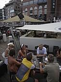 Norway, Oslo, Aker Brygge area, people,  leisure