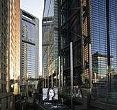 Japan, Tokyo, Shiodome area, new highrise urban development