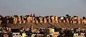 India, Rajasthan, Jaisalmer, panoramic general view, skyline