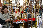 France, Cluses, Religious objects sold at a flea market
