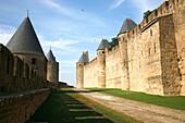 France, Languedoc-Roussillon, Aude, Carcassonne, medieval city (Unesco world heritage) , remparts