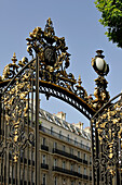 France, Paris, Monceau park, entrance gate