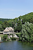 France, Normandy, Eure, Vernon, medieval mill and river Seine