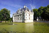 France, Centre, Indre et Loire, Azay le Rideau castle